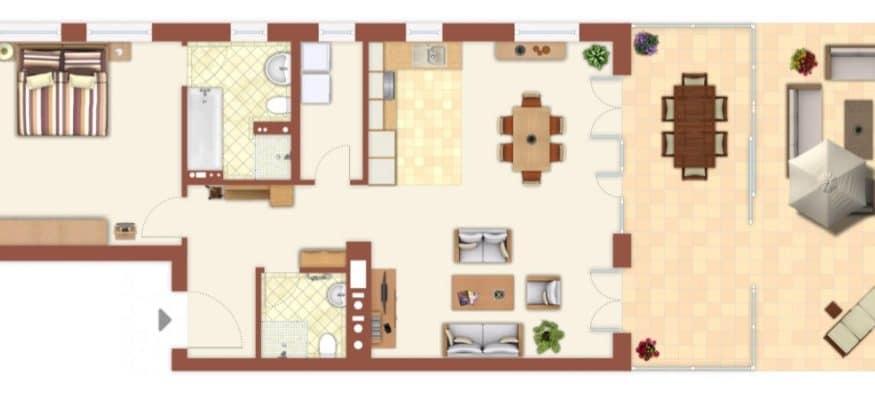Планировка квартиры в Берлине